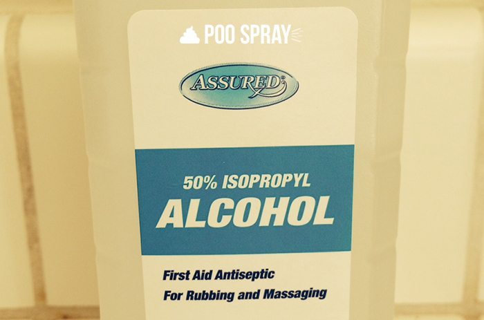 DIY Poo Pourri Recipe - Rubbing Alcohol