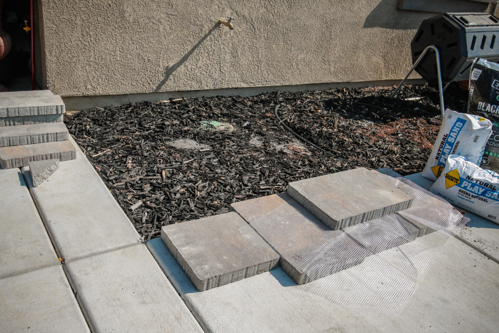 DIY Paver Stone Steps - Getting Started