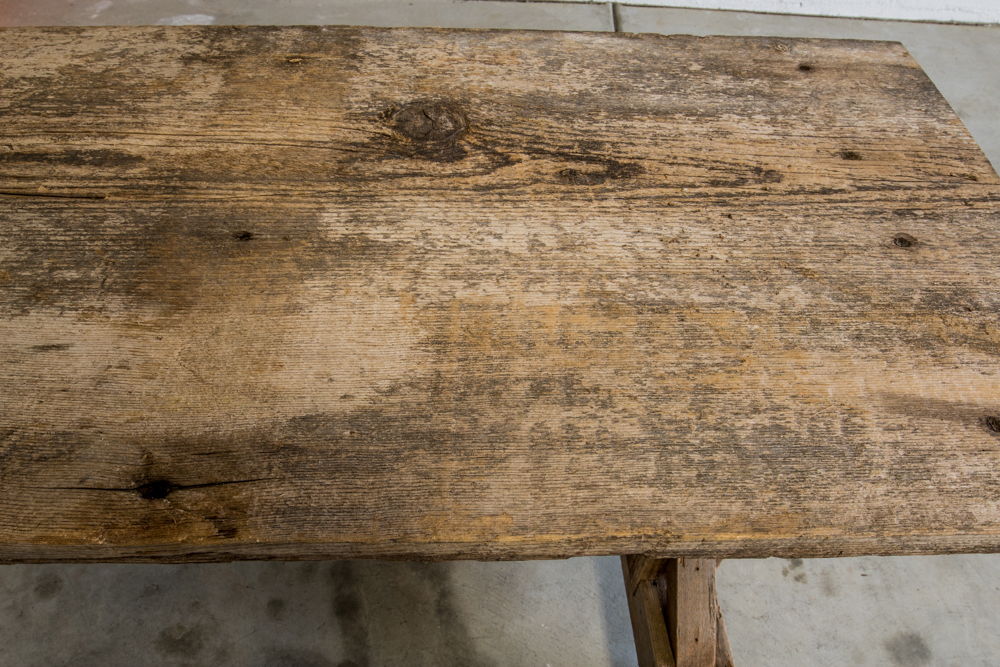Reclaimed Wood Sofa Table (Before Sanding)