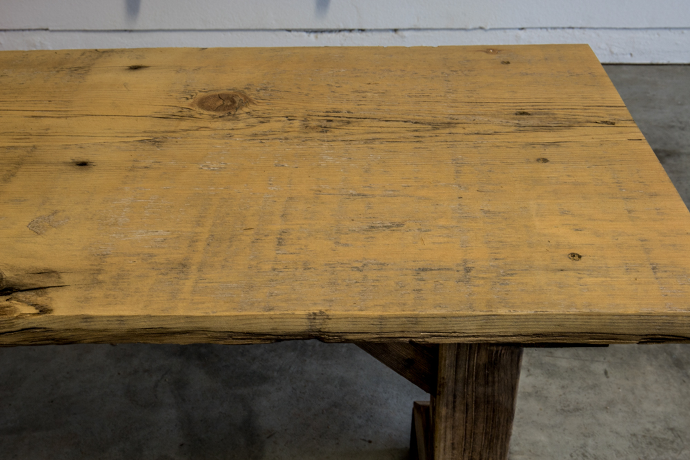 Reclaimed Wood Sofa Table (After Sanding)