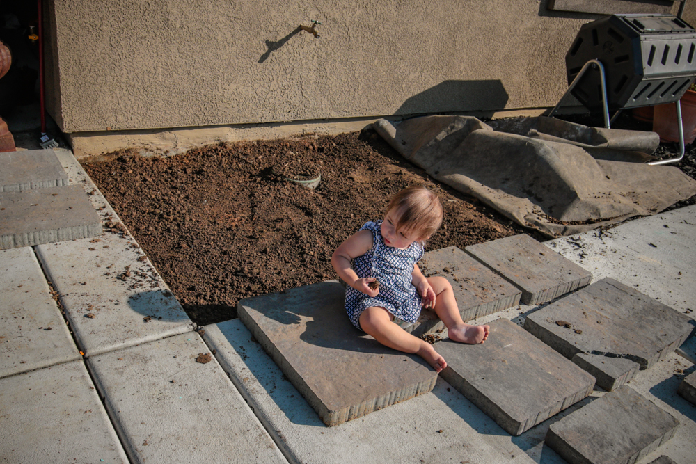 DIY Paver Stone Steps - Leveling Out