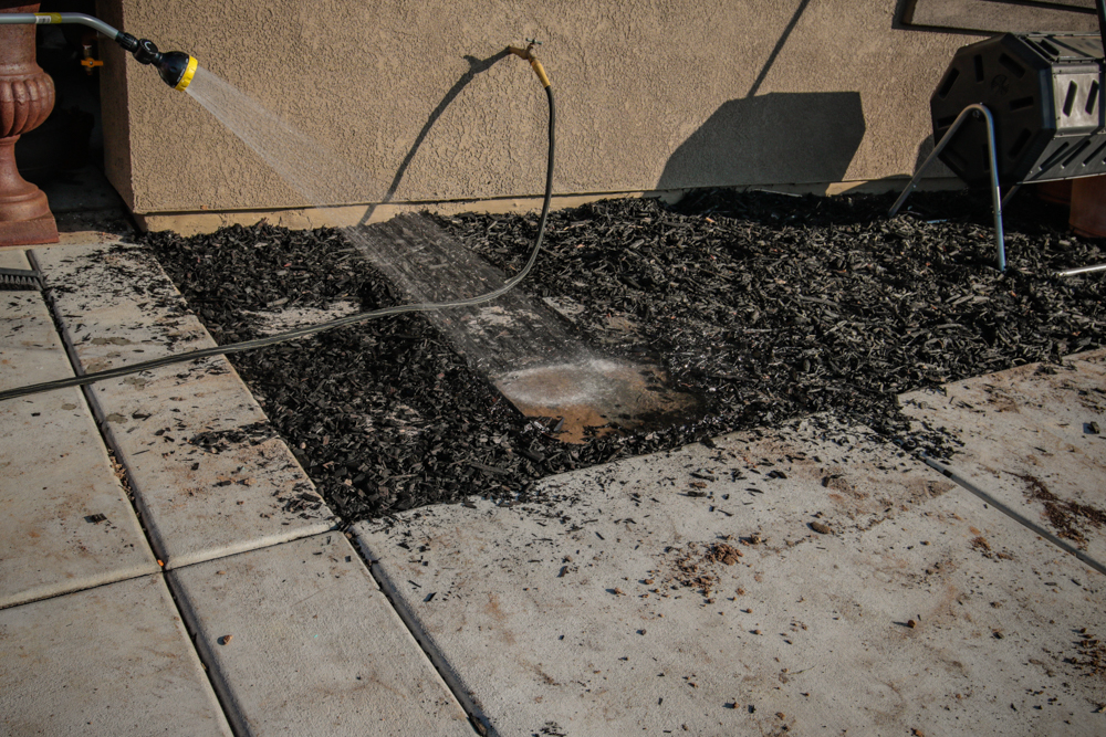 DIY Paver Stone Steps - Cleaning the Paver Stones