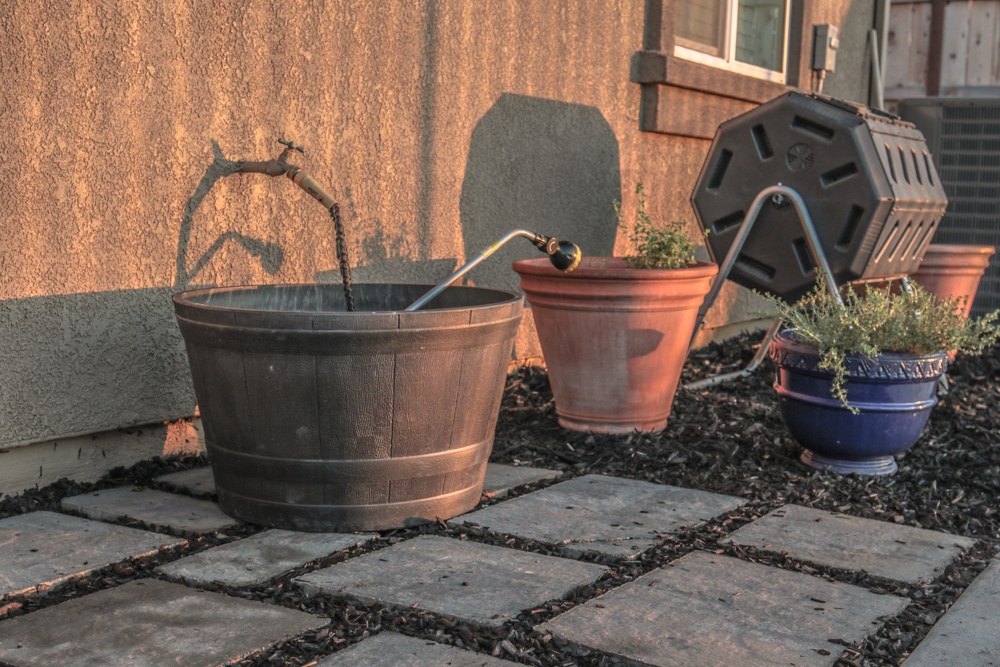 Paver Stone Steps and Garden Hose Area (DIY Project)